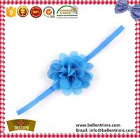 Custom chiffon fabric flowers headband for newborn baby