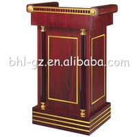 Wholesale Office Furniture Classical Wooden Lecterns Podiums Meeting Room Pulpits Wooden Reception Desks For Hotel T28A
