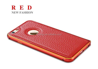 Buy direct from china Leather Back Case Cover+Luxury Metal Frame Bumper case for iphone 5 alibaba china