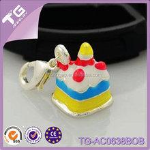 Colorful Birthday Cake Keychain Key chain Pendant