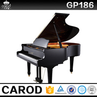 GP186 the most popular product black polish wooden grand piano
