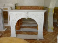 Cheap white marble indoor round fireplace