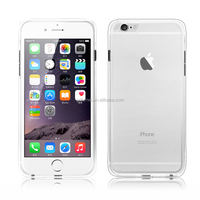 clear crystal bumper transparent hard PC plastic back slim case cover for iPhone 6/ 6 plus