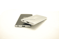Muilt color super slim polymer battery power bank USB port charging for cell phones and tablets