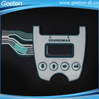 Custom Tactile Waterproof 4 Button Membrane Switch With LEDs