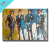 Wall art hand painted music oil painting abstract