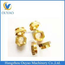 cnc precision machined brass parts adapter cnc machining brass parts