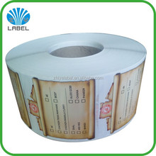 cheap price custom art paper sticker printing, food packaging art paper sticker roll, adhesive art paper sticker for instruction