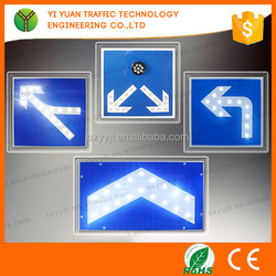 Wholesale 12 v/3.5 W Solar Panels LED Road Safety Sign Board Reflective Traffic Road Arrow Sign Boards