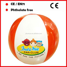 custom brand 16inch inflatable beach balls for promotion OEM orders accept