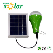 High bright CE led solar panel kit with build-in battery & led bulb