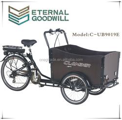 """2015 hot sale three wheel 20""""/24"""" Electric Cargo Bike/bakfiet/cargobike model UB9019E"""