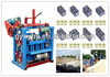 New multi-function light weight QMJ4-35A mini concrete plant/ interlocking hollow block making machine