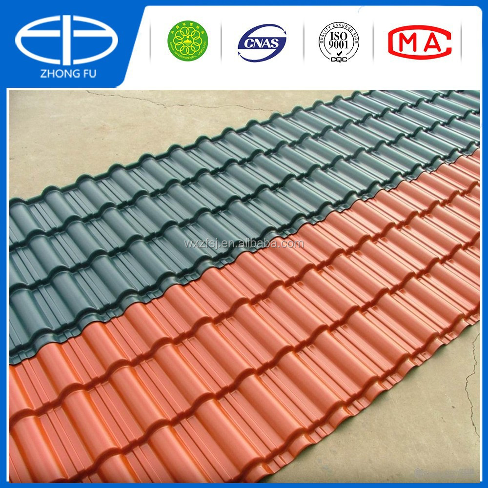 asa coated pvc plastic spanish tile roof synthetic resin. Black Bedroom Furniture Sets. Home Design Ideas