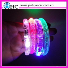 Factory Promotional Colorful Led Bracelet , Silicone Luminous Bracelet