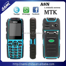 sami mini A8N rugged waterproof mobile phone shockproof outdoor cell phone very small mobile phone