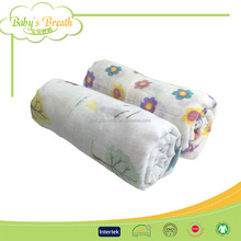 MS349 muslin swaddle printed cotton custom baby blankets wholesale, baby blanket organic cotton