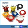 Multicolor Enameled cast Iron set for fondue