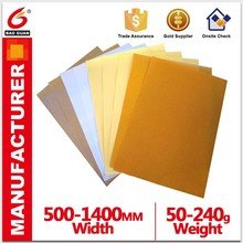 Used to produce a protective film of the paper