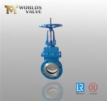 Bevel gear slurry knife gate valve