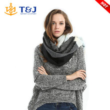 >>>Arrival Wool Blend Blanket Oversized Tartan Scarf Wrap Shawl Plaid Checked Pashmina