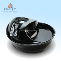 Pet products Ceramic water Drinking Fountain Rain Drop new style , Black color , 60 oz