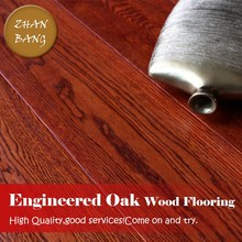 Hot Sale Smooth Engineered hardwood floors /Parquet Smoke Oak Asian Wheat Wood Flooring