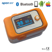 newest and good quality product finger pulse oximeter sensor with Bluetooth and screen