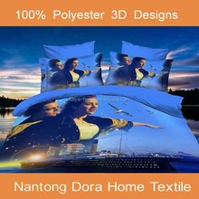 hot sale 3D romatic boys and girls bed sheets,bed linen, 3d bed sheet comforter