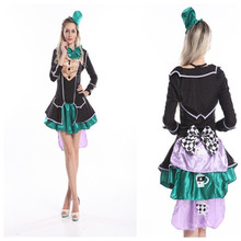 """Instyles <span class=""""wholesale_product""""></span> Sexy Fantasy Mad Hatter Wonderland Outfit Adult Women's Halloween Costume 558 Z"""