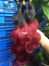 7a grade 100% omber two tone 1b &red indian silky body wave