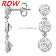 2015 RDW New style diamond earring fashion dinner party earrings big shiny stone earrings