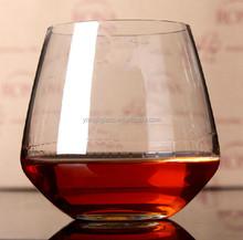 stemless wine glasses , custom logo round bottom drinking glass , hot sales unique whisky glass