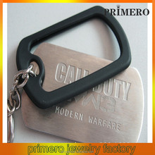 PRIMERO fashion wholesale jewelry black rubber dog tag cover silicone dog tag men's dog tag necklace Listing key