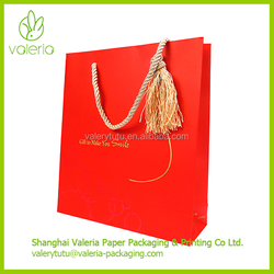 Custom Design Cheap Fancy Shopping Gift Paper Bag with Handles