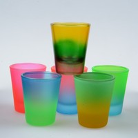 souvenir gift shot glasses cup decorative glass cheap gift craft decal shot glasses