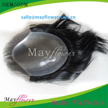 freestyle human hair toupee for men thin skin lace base virgin Brazilian hair men wigs