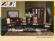 New classic luxury wooden dining room set design ZOE-01#