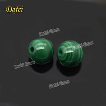 Wholesale Round Smooth Natural Malachite Loose Beads For Necklace