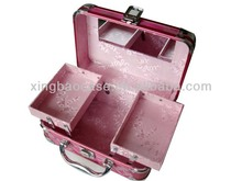 Jcpenney cosmetic case, cosmetic display case, large aluminum cosmetic case