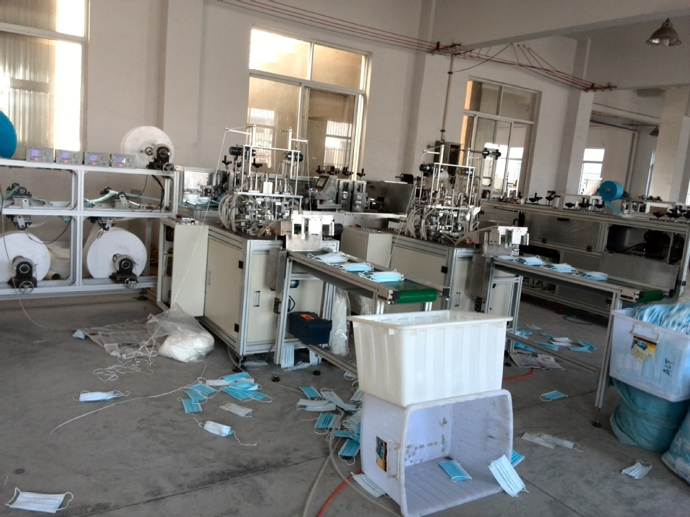 New production- full automatic line for medical mask surgical face mask making machine