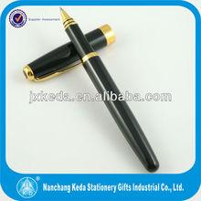 2014 Classic Series Gloss full Black Roller Ball Pen Fletch Clip Round TIP End