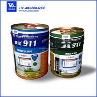 Double component water based polyurethane waterproof coating
