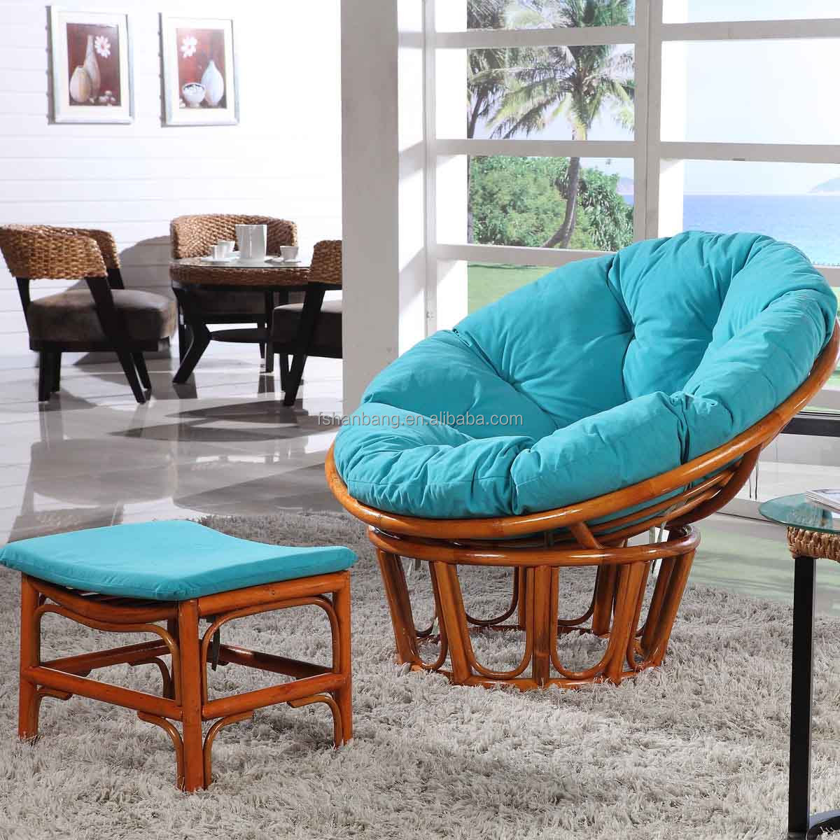 Super Comfortable Large Living Room Dorm Appartment Rattan Wicker Papasan Cha