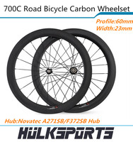 60mm Tubular road bike of carbon wheelset Full carbon bicycle wheelset of 23mm width for carbon bike