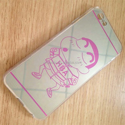 electroplating mirror cellphone case with cartoon