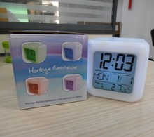 7 Color Change Led Digital Alarm Clock with Radio Clock and Alarm