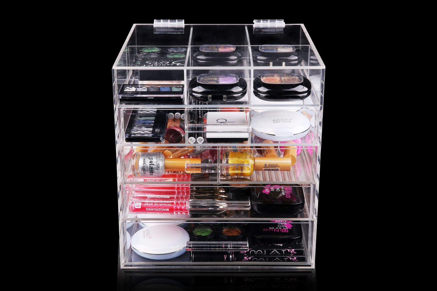 Fashion Clear Acrylic Makeup Organizer With Drawers
