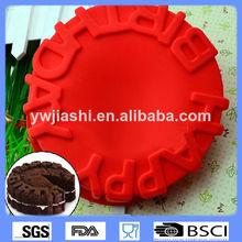 Cumpleaños de silicona torta del molde, bricolaje feliz cumpleaños de torta del molde