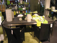CH-T001Brushed 304 Grade Stainless Steel chairs and tables with granite top, brushed stainless steel outdoor furniture